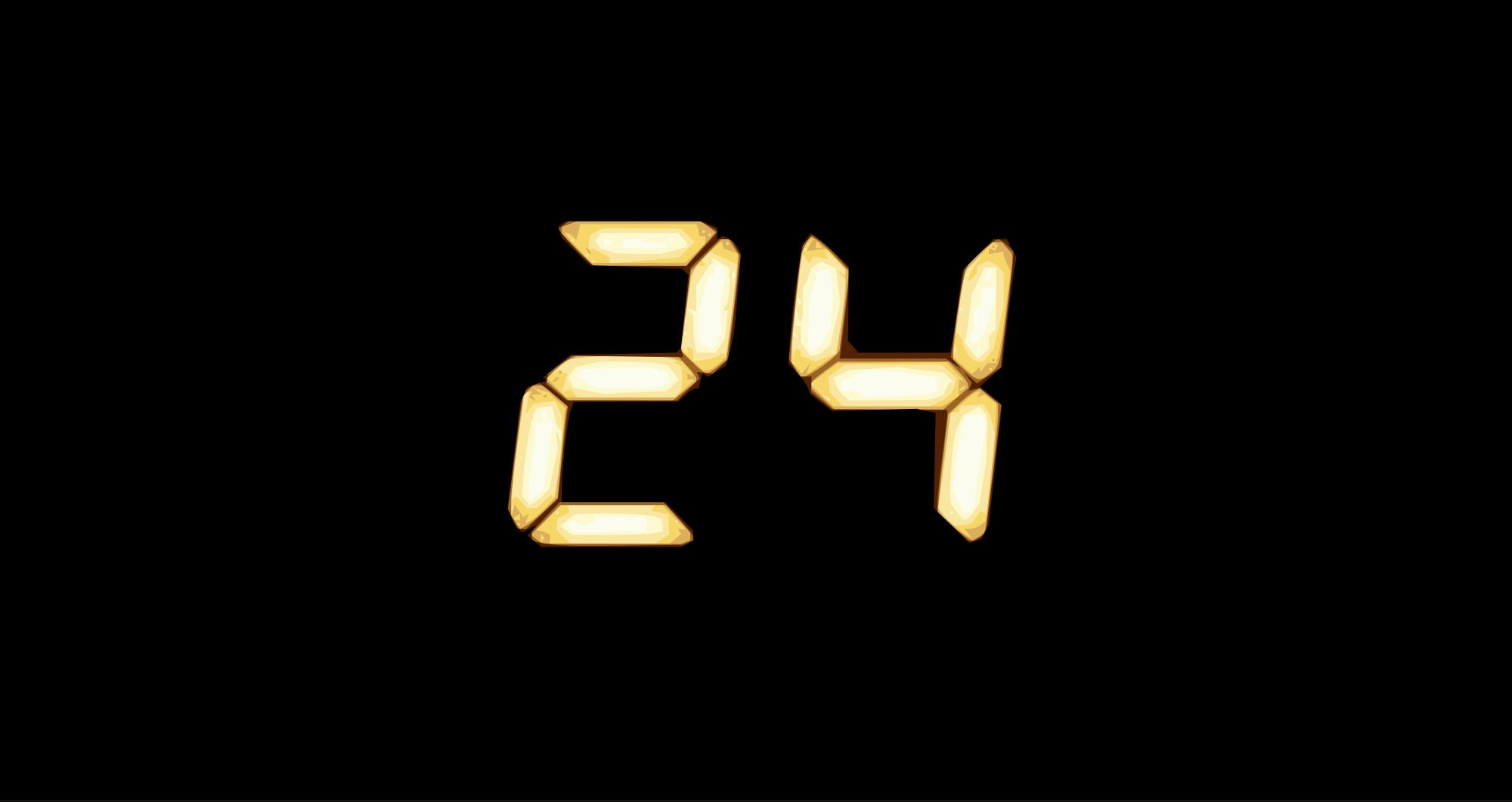 """Logo der Fernsehserie """"24"""""""