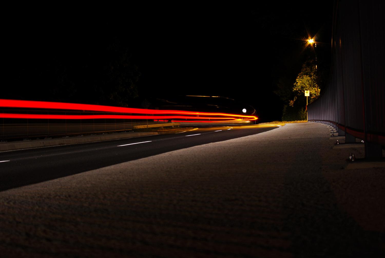 Straße Richtung Sachsenheim