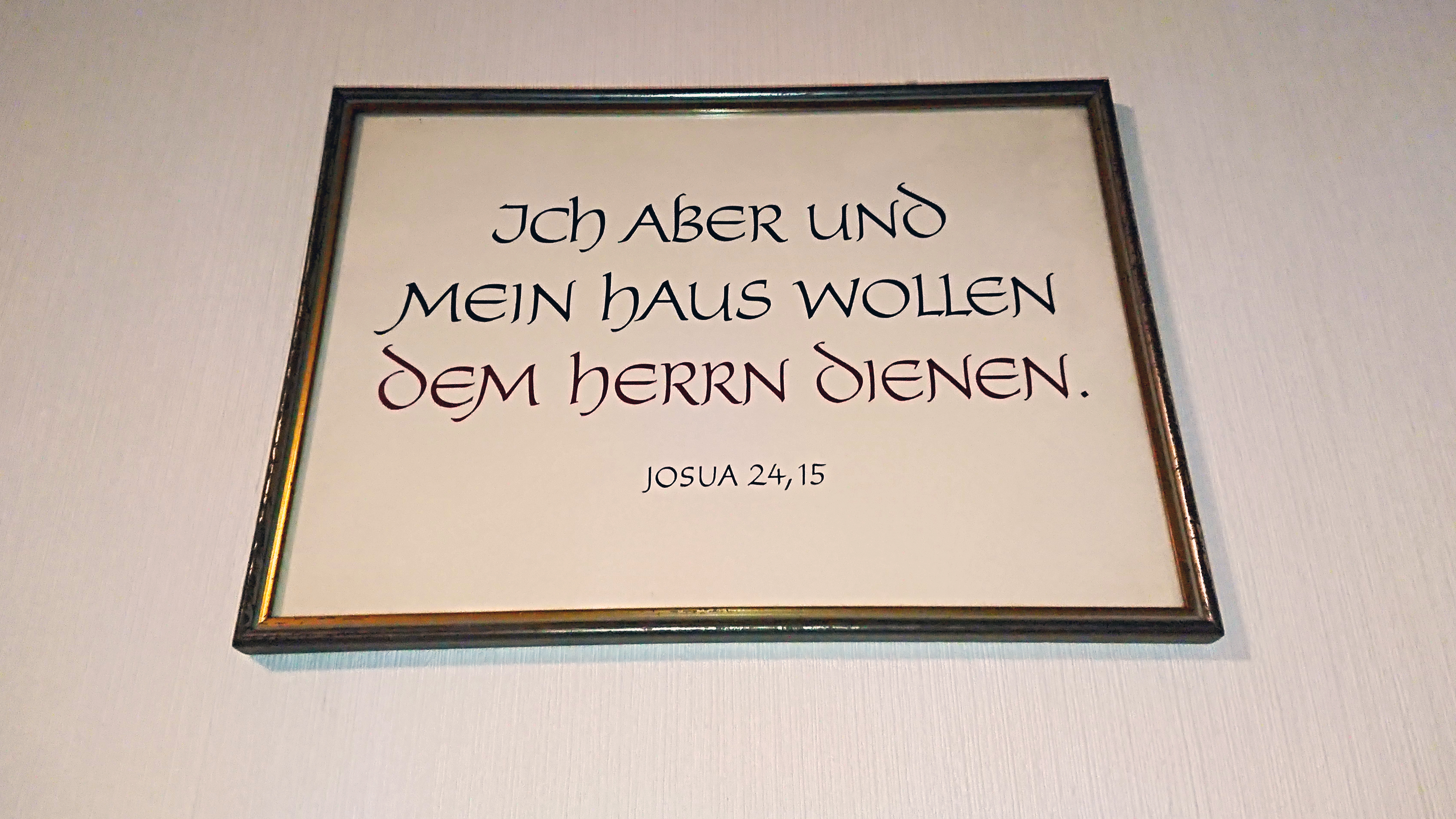 Bilderrahmen mit Bibelvers