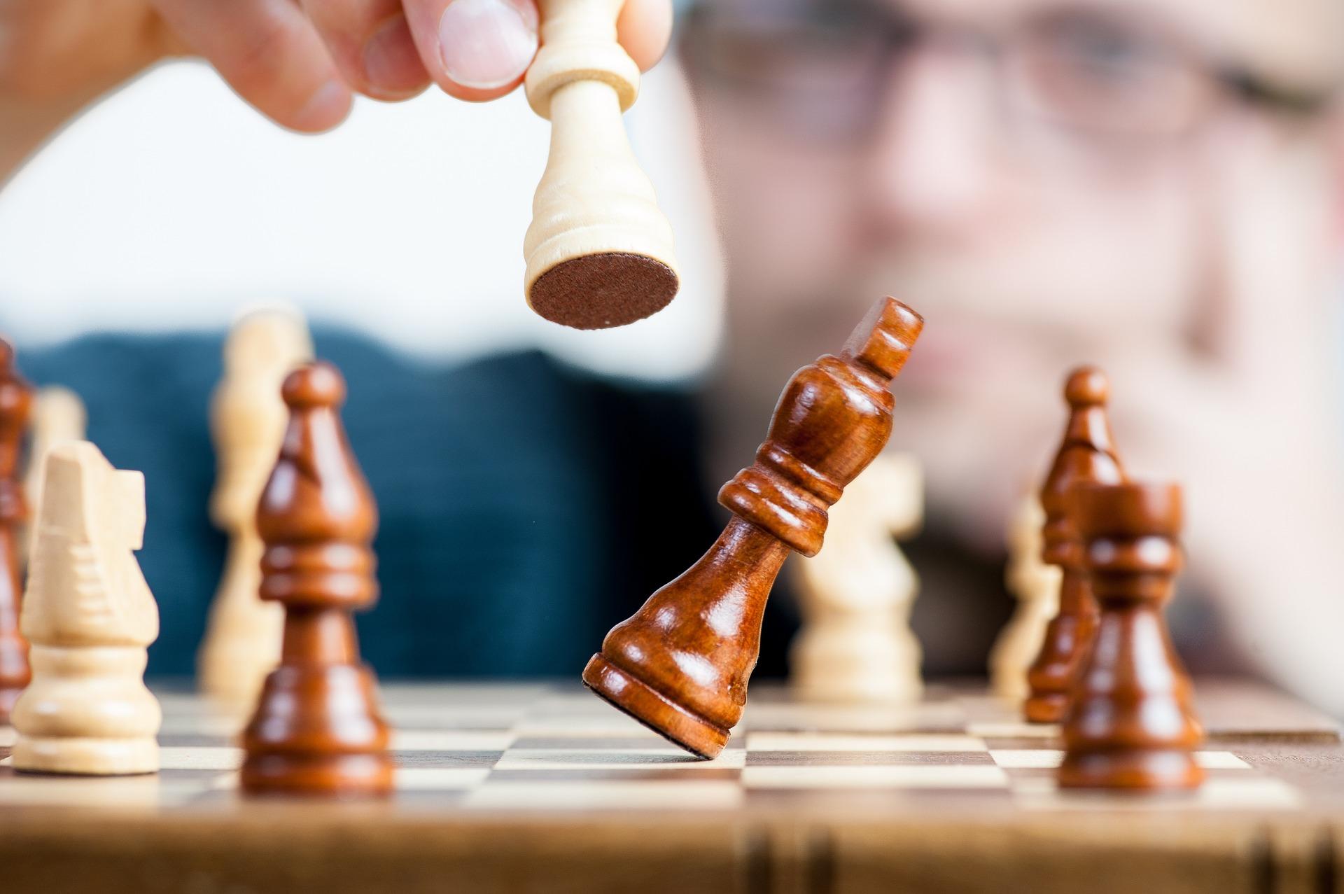 Sieg beim Schach